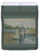 The Bridge At Courbevoie Paris, May - July 1887 Vincent Van Gogh 1853  1890 Duvet Cover