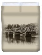 The Bridge At Washingtons Crossing Duvet Cover by Bill Cannon