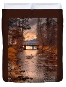 The Bridge By The Lake Duvet Cover