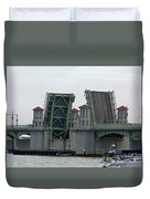 The Bridge Of Lions Open For Boats Duvet Cover