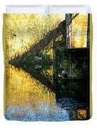 The Bridge On The River And Its Shadow. Duvet Cover