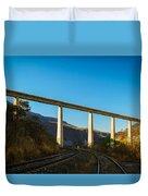 The Bridge Over The Railways Duvet Cover