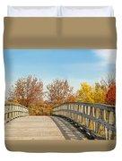 The Bridge To Autumn Duvet Cover