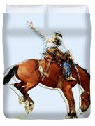 the Bronc Buster Duvet Cover