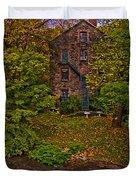 The Bronx River Stone Mill Duvet Cover