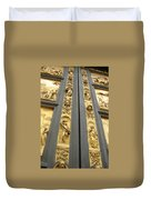 The Bronze Doors Duvet Cover
