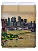 Vintage Brooklyn Bridge Duvet Cover