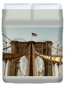 The Brooklyn Bridge Flag Duvet Cover