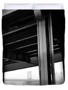 The Brooklyng Bridge And Manhattan Bridge From Fdr Drive Duvet Cover