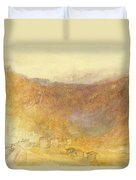 The Brunig Pass From Meiringen Duvet Cover
