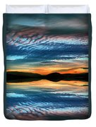 The Brush Strokes Of Evening Duvet Cover by Tara Turner