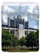 The Buckeye Grove Around Ohio Stadium Duvet Cover