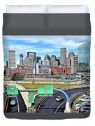 The Buildings Of Boston Duvet Cover