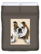 The Bull Dog Pup Duvet Cover