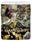 The Burial Of The Count Of Orgaz 1587 Duvet Cover