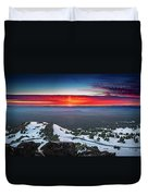 The Burning Clouds At Crater Lake Duvet Cover