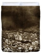 The Burning Of San Francisco Panoramic View Of San Francisco From Twin Peaks April 1906 Duvet Cover