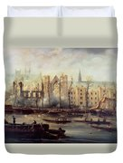 The Burning Of The Houses Of Parliament Duvet Cover by The Burning of the Houses of Parliament