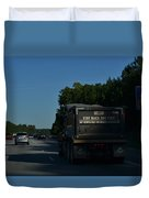 The Busy Highway Duvet Cover