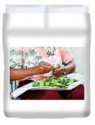 The Butterbean Lady Duvet Cover