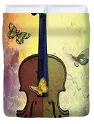 The Butterflies And The Violin Duvet Cover