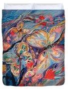 The Butterflies On Blue Duvet Cover