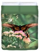 The Butterfly And The Bumblebee Duvet Cover