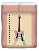 The Butterfly Guitar Duvet Cover