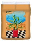 The Cactus From Nigeria Duvet Cover
