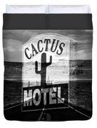 The Cactus Motel Duvet Cover