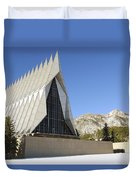 The Cadet Chapel At The U.s. Air Force Duvet Cover
