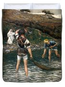 The Calling Of Saint Peter And Saint Andrew Duvet Cover by Tissot