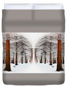 The Calm Of Winter In The Woods Duvet Cover