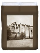The Campanario, Or Bell Tower Of San Gabriel Mission Circa 1880 Duvet Cover