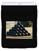 The Cannonballs At The Battery In Charleston Sc Duvet Cover