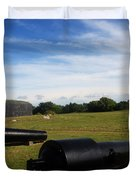 The Cannons At Fort Moultrie In Charleston Duvet Cover