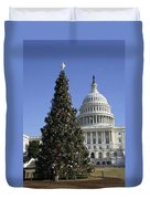 The Capitol Christmas Tree Is Decorated Duvet Cover