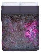 The Carina Nebula And Surrounding Duvet Cover