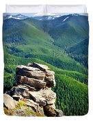 The Cascade Mountains Duvet Cover