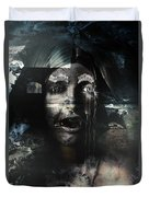 The Castle And The Vampires Tale Duvet Cover