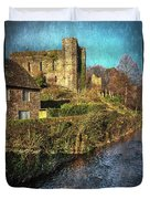 The Castle At Brecon Duvet Cover