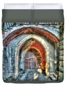 The Castle Door - La Porta Del Castello Duvet Cover