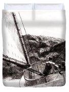 The Cat Boat, Edward Hopper Duvet Cover