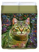 The Cat Who Loved Flowers 1 Duvet Cover