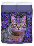 The Cat Who Loved Flowers 3 Duvet Cover
