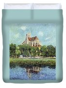The Cathedral At Auxerre Duvet Cover