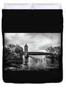 The Cathedral Of Fish Bw Duvet Cover