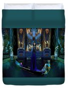 The Cave Temple Of Lhariahn Duvet Cover