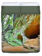 The Caves At Old Man's Gorge Trail Hocking Hills Ohio Duvet Cover