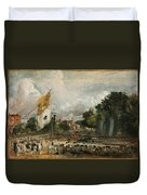 The Celebration In East Bergholt Of The Peace Of 1814 Concluded In Paris  Duvet Cover